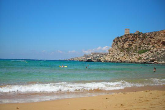 Le cinque migliori spiagge di sabbia a Malta